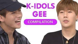 K-IDOLS DANCING TO SNSD GEE (COMPILATION)