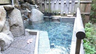 奈良県十津川温泉郷温泉地温泉公衆浴場滝の湯(露天風呂・女湯)