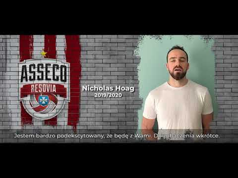 Nicholas Hoag przyjmującym Asseco Resovii!
