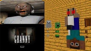 Monster School GRANNY HORROR GAME CHALLENGE Minecraft Animation - Minecraft horror spiele