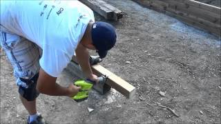 Cutting A 4x4 Timber With A Reciprocating Saw