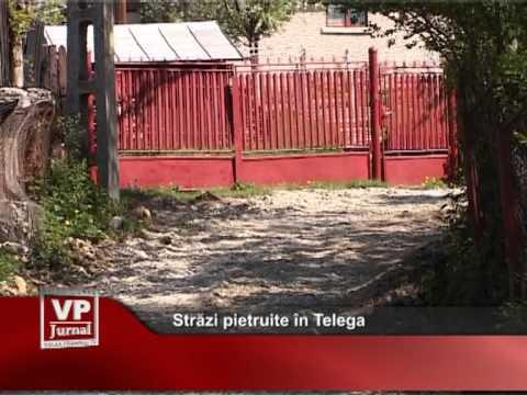 Străzi pietruite în Telega