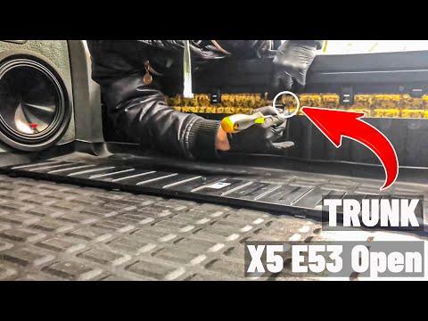 Как открыть нижнюю крышку багажника BMW X5 E53 не работает замок багажника