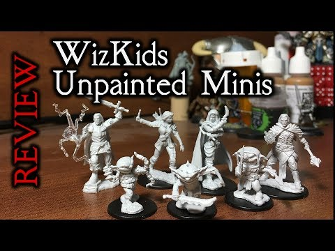 WizKids Unpainted Miniatures Review - for D&D and Pathfinder (vs. Reaper Bones)