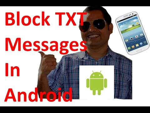 How to block text messages in android phone