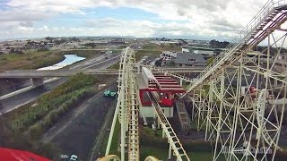 preview picture of video 'Corkscrew Coaster POV - Rainbow's End - Manukau City, Auckland, New Zealand'