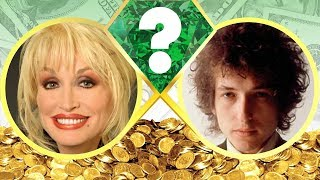 WHO'S RICHER? - Dolly Parton or Bob Dylan? - Net Worth Revealed! (2017)