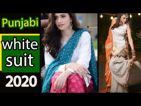 Daily Wear White Kurta\Kurti Design With Contrast Dupatta | White Suit With Contrast Dupatta