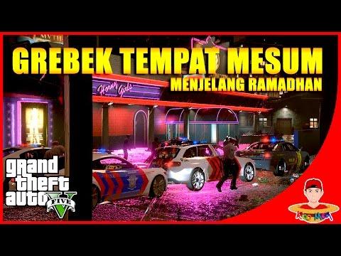 GTA V MOD INDONESIA (10) - Patroli Malam Grebek Tempat Karaoke😂