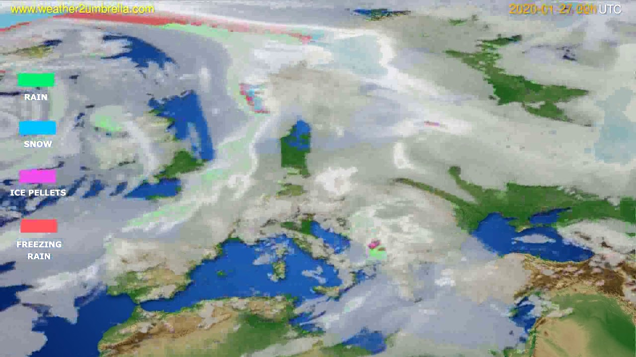 Precipitation forecast Europe // modelrun: 00h UTC 2020-01-26