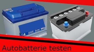 Autobatterien testen ohne Batterietester
