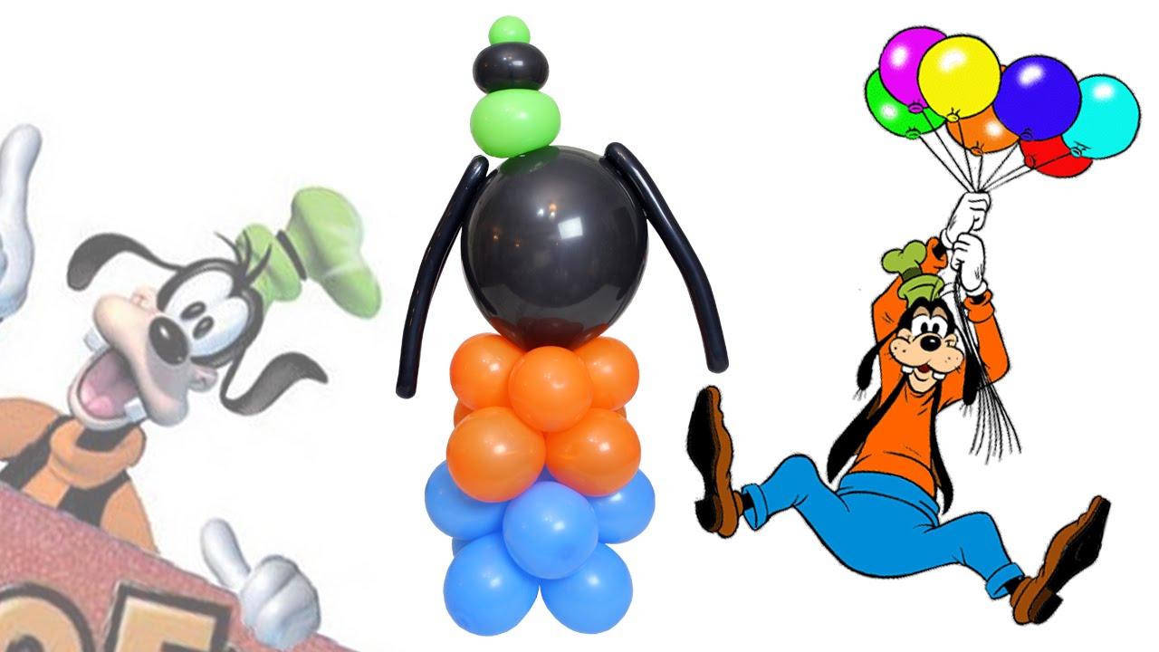 Curso de Globos. El Bonachón de Goofy hecho en globos