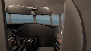 Квест в VR виртуальной реальности HTC Vive - выбраться из горящего самолета и пройтись по планке