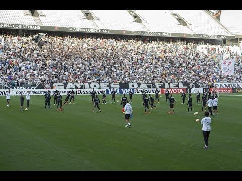 Com show da torcida, confira o treino do Timão na Arena Corinthians