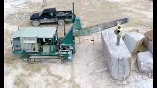 The Biggest Chain Saw Machine On Tractor, For Hard Rock Stone