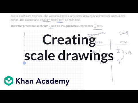 Creating scale drawings (video) Geometry Khan Academy