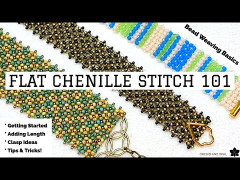 Flat Chenille Beading Stitch 101 Tutorial for Beginners