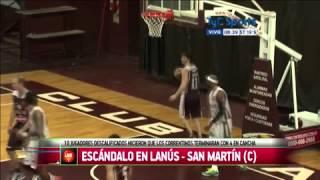 preview picture of video 'Incidentes en el partido Lanús vs San Martín'