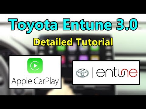 Toyota Entune 3.0 (*Now w/ Apple CarPlay*) 2019 Detailed Tutorial and Review: Tech Help