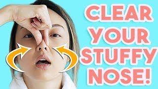 HOW TO: Clear A Stuffy Nose INSTANTLY!
