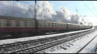 preview picture of video 'A1 60163 Tornado Talisman - Arlesey Station - 7th feb 2009'