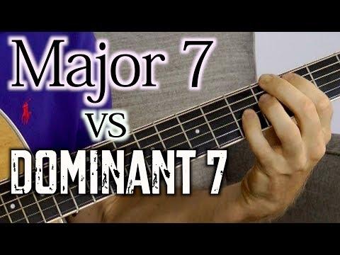 Major 7 vs Dominant 7 Chords