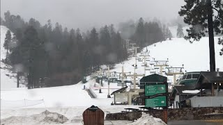 Both SNOW SUMMIT And BEAR MOUNTAIN Ski Resort. Big Bear, CA Visual Snow Report. 1172019 At 4:10 Pm