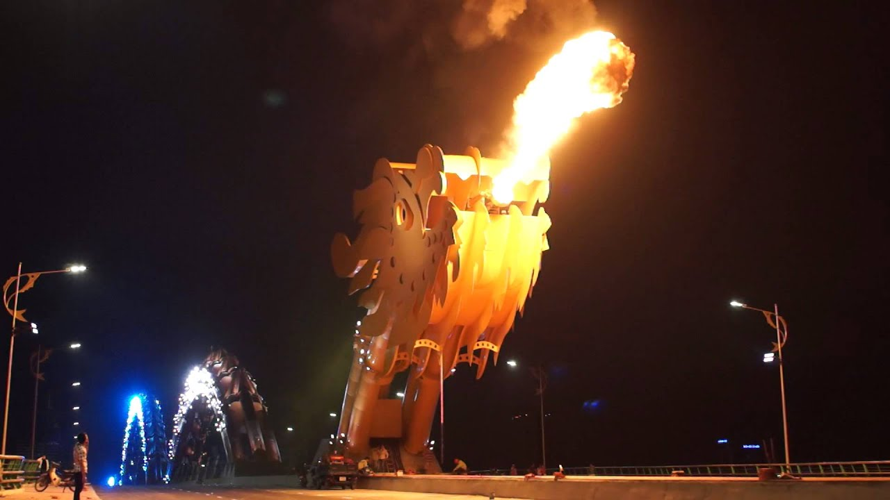 Vietnam Builds Fire-Breathing Dragon Bridge To Commemorate The End Of The War