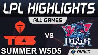 TES vs LNG Highlights ALL GAMES LPL Summer Season 2020 W5D5 Top Esports vs LNG Esports by Onivia