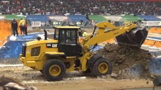 Cat Construction Equipment at Monster Jam