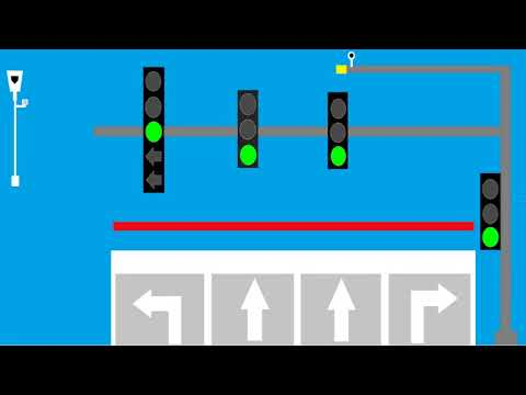 Traffic Light Animation With Red Light Camera