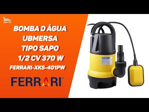 Bomba D Água Submersa tipo Sapo 1/2 CV 370 W  - Video