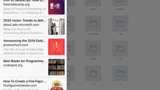How to delete reading list on ipad?