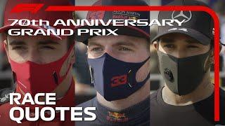 70th Anniversary Grand Prix: Post-Race Driver Reaction