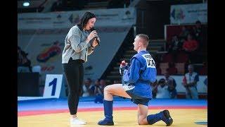 Украинский самбист делает предложение руки и сердца на чемпионате мира по самбо В Румынии 2018.V.2.0