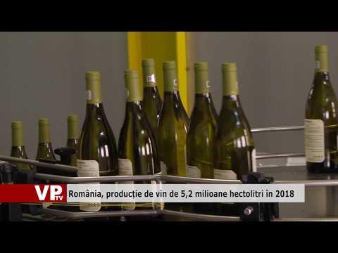 România, producție de vin de 5,2 milioane hectolitri în 2018