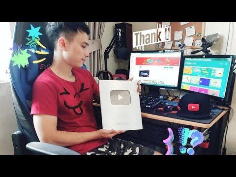 Mở hộp Nút Bạc Youtube KTheme 100.000 subscribers