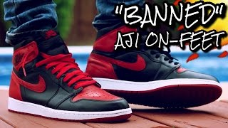 """BRED/BANNED"" AIR JORDAN 1 ON-FEET REVIEW"