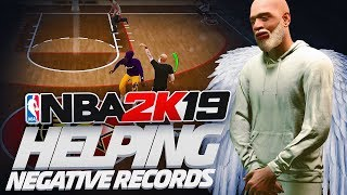 i tried helping negative records at the stage on nba 2k19...