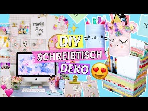 DIY SCHREIBTISCH MAKEOVER 😍 5 PINTEREST DEKO DIYs selber machen 🎀 Back to School DIYs // CaroDIY