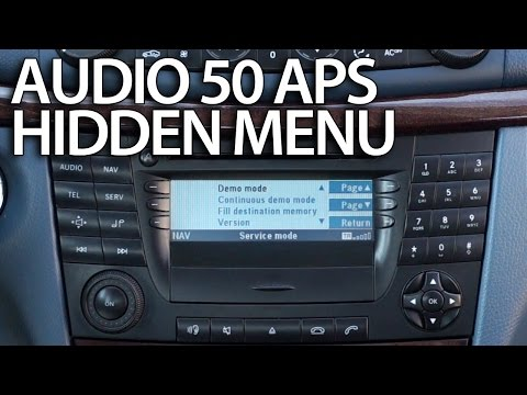 How to enter hidden menu in Mercedes Audio 50 APS (engineering mode) W211 E-Class