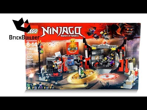 UNBOXING LEGO 70640 Ninjago S.O.G. Headquarters Construction Toy