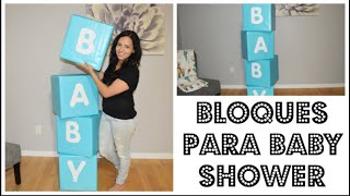 Ideas De Decoracion Para  Baby Shower De Niño Varon Bloques Super Facial