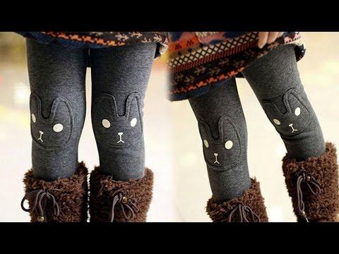 Тёплые зимние детские леггинсы-штаны на меху для девочек. Aliexpress