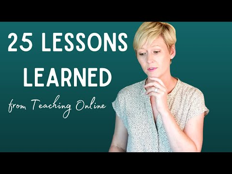 25 Lessons Learned Teaching Online