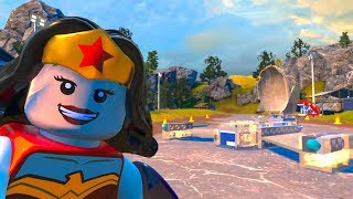 LEGO DC Super-Villains - Wonder Woman's Invisible Jet - Open World Free Roam Gameplay HD