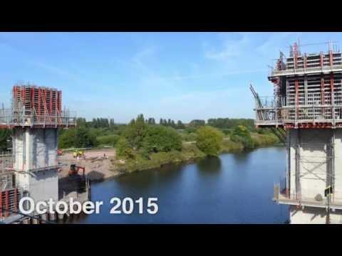 Ascent climbing formwork speeds bridge construction