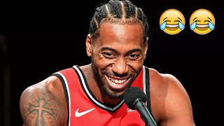 Kawhi Leonard Laughing Compilation