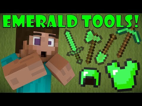 CRAFTING EMERALD TOOLS in MINECRAFT