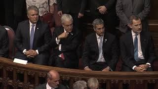 Llegada de S.M. el Rey al Palacio Legislativo para la Toma de posesión del Presidente Lacalle